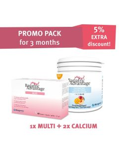 PROMO PACK:  Multi Capsules + Calcium Chewables Peach-Mango